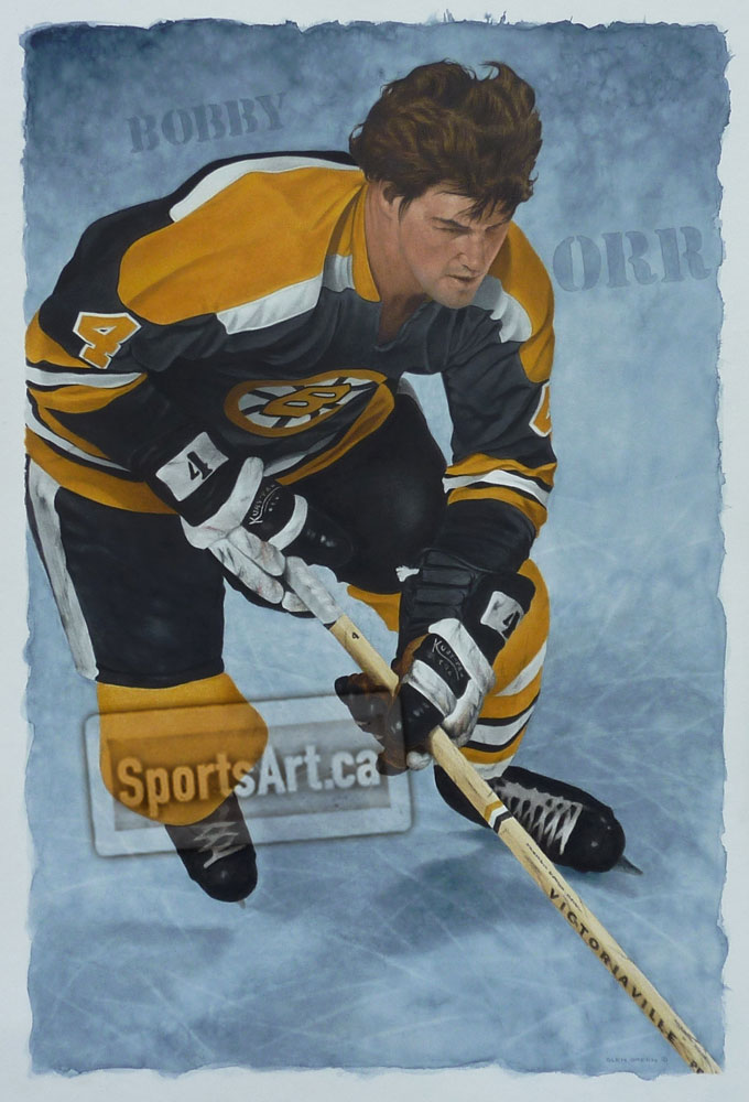 Bobby Orr Up The Ice Sports Art